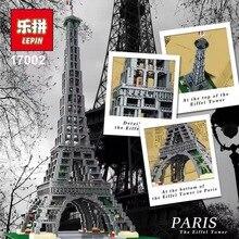 EM ESTOQUE Frete Grátis Nova LEPIN 17002 3478 pcs A Torre Eiffel Modelo de Construção Kits Brinquedos Tijolo Compatível 10181 Natal presente