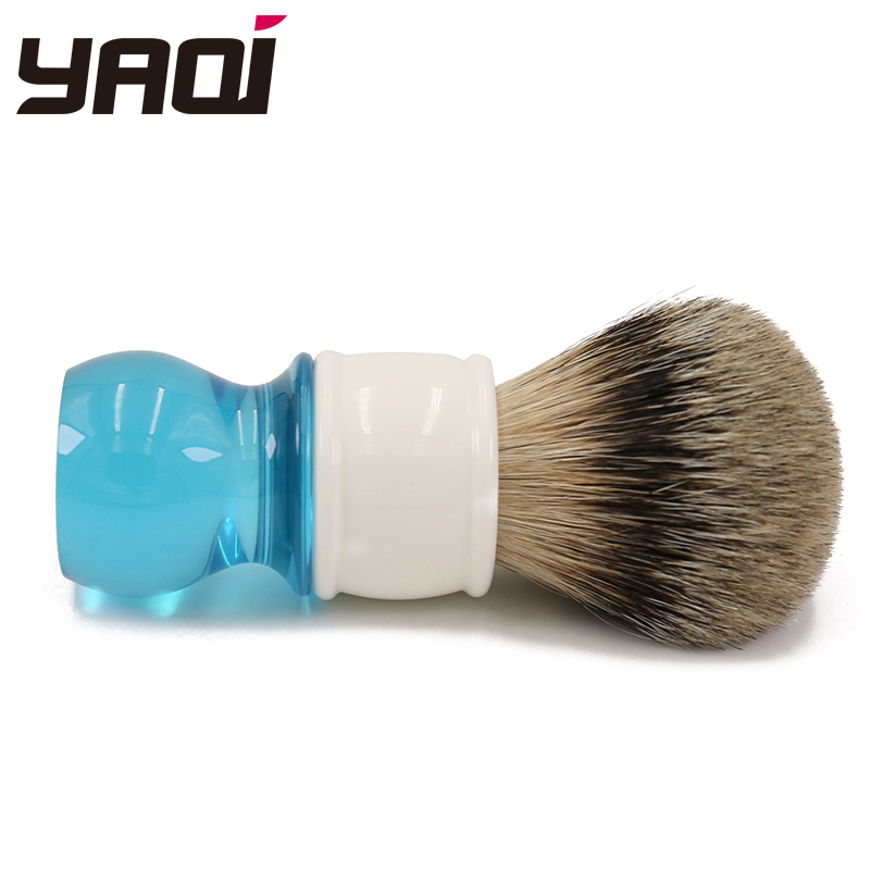Yaqi 24 millimetri Aqua Highmountain Silvertip Peli di Tasso Pennello Da Barba-in Pennello da barba da Bellezza e salute su  Gruppo 3