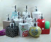 Ceramic Emulsion Liquid Empty Bottle Soap Dispenser Hotel Bathroom Accessories High Grade Shampoo Packaging Bottles