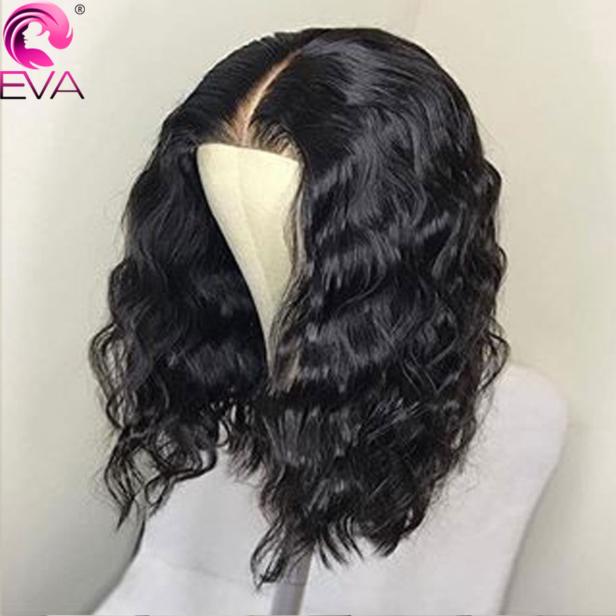 Eva Hair Short Lace Front Human Hair Wigs For Black Women Wavy 13x6 Lace Wigs Pre Plucked With Baby Hair Brazilian Remy Hair