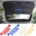 New & Cool Aluminium Auto Tail Door Inside Emblem Vehicle Logo Sticker for Jeep Renegade 2015 up