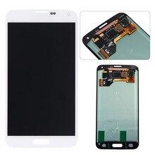 Al por mayor para samsung galaxy s5 i9600 asamblea lcd con pantalla táctil digitalizador recambios del teléfono móvil blanco