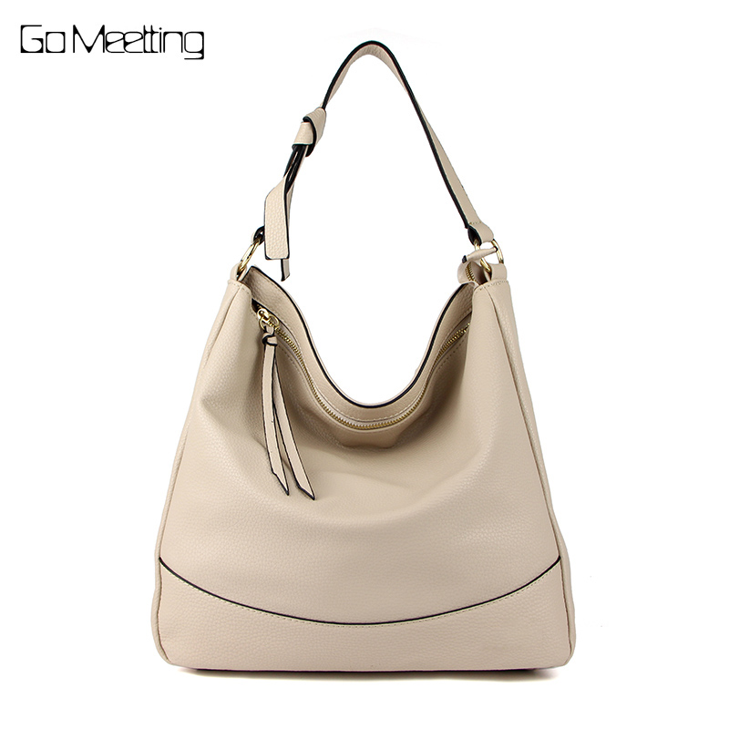 Go Meetting Women Shoulder Bag High Quality PU Leather Handbag Women Hobos Bags Bolsas femininas Female Large Capacity Bags high quality travel canvas women handbag casual large capacity hobos bag hot sell female totes bolsas ruched solid shoulder bag