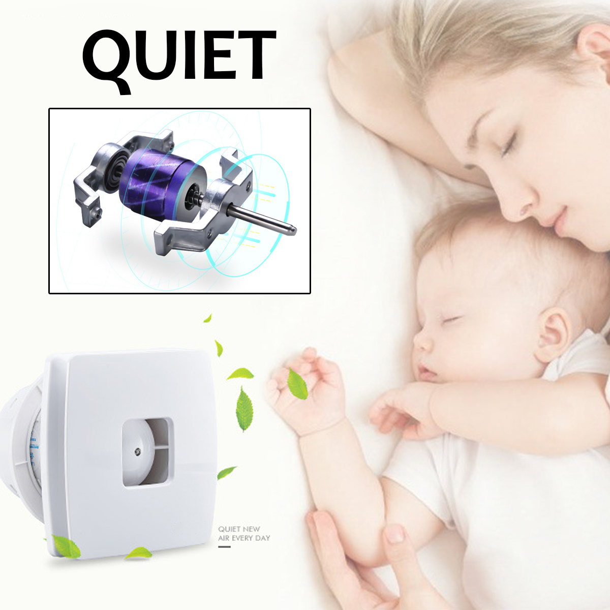 12W Cool Quiet Ducted Ventilation Fan High Speed Air Ventilator Blower Pipe Extractor Bathroom Kitchen Toilet Home Exhaust fan цена