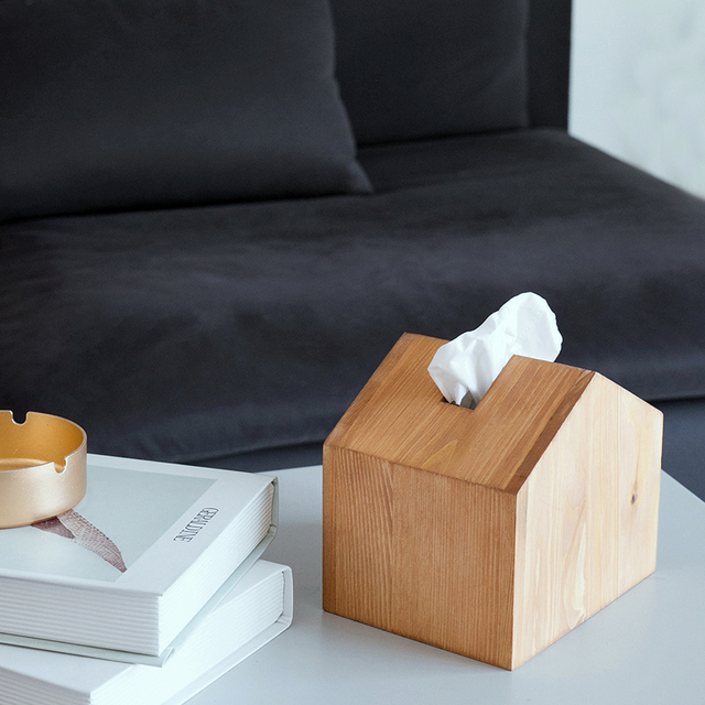 US $14 79 |SWEETGO Tissue box wood house shape lollipop holder for cake  stand table home decorations 14cm*13cm-in Stands from Home & Garden on
