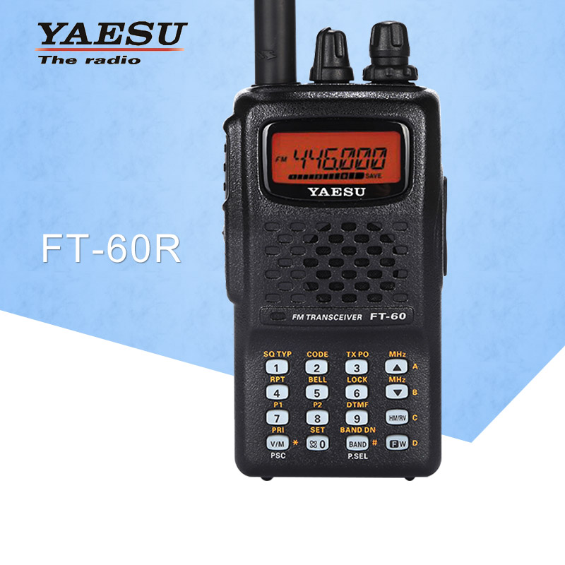 Walkie Talkie FT-60R Dual-Band 137-174/420-470MHz FM Ham Two Way Radio Transceiver For YAESU FT60R Radio