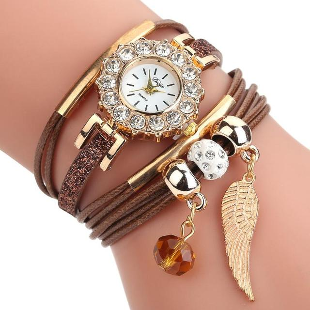 DUOYA  Quartz Wristwatches  Montre Femme Casual Leather Bracelet Watch Ladies Watches Women   17DEC27