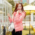 2017 Autumn winter female casual design short cotton-padded jacket cotton-padded jacket plus size wadded jacket female with a