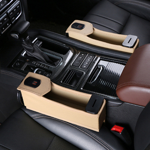 Image 5 - 1 soporte para hueco de asiento de coche estuche de almacenamiento para automóvil portavasos organizador de bebidas cargador de teléfono automático con cargador de coche de 12V soporte para teléfono