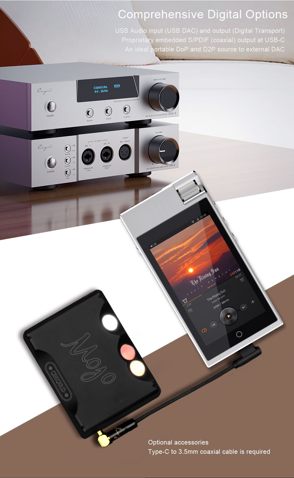 CAYIN N5iiS Android Based Master Digital Audio Lossless Music Player 14