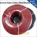 6mm2 Cable Solar Negro, solo Conductor, utiliza para Fuera de la Red y En la Red Del Sistema Solar, Panel Solar Al Por Mayor de 5 Metros/lote Cable