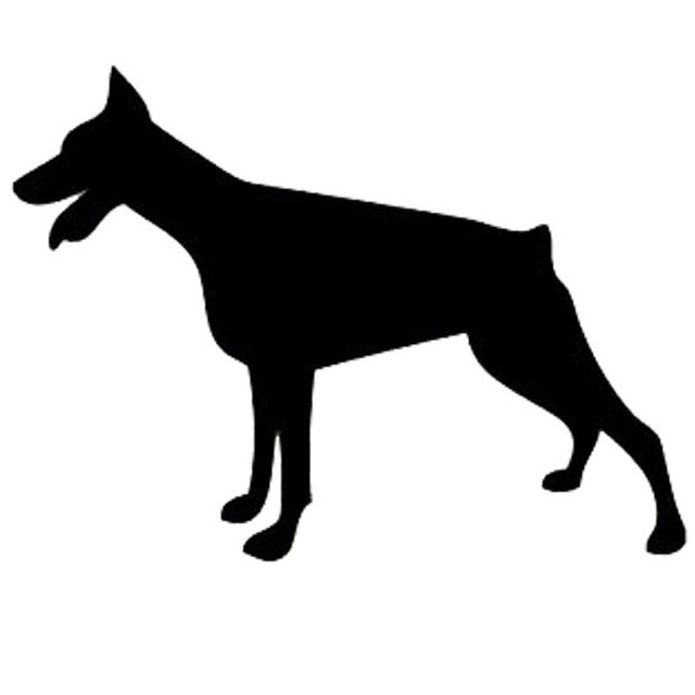 15 211 2cm doberman dog vinyl decal silhouette car stickers car styling motorcycle accessories black