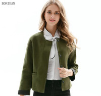 Free Shipping Personality Woman Europe United States Are 2017 New Spring Small Waisted Jacket Collar Coat
