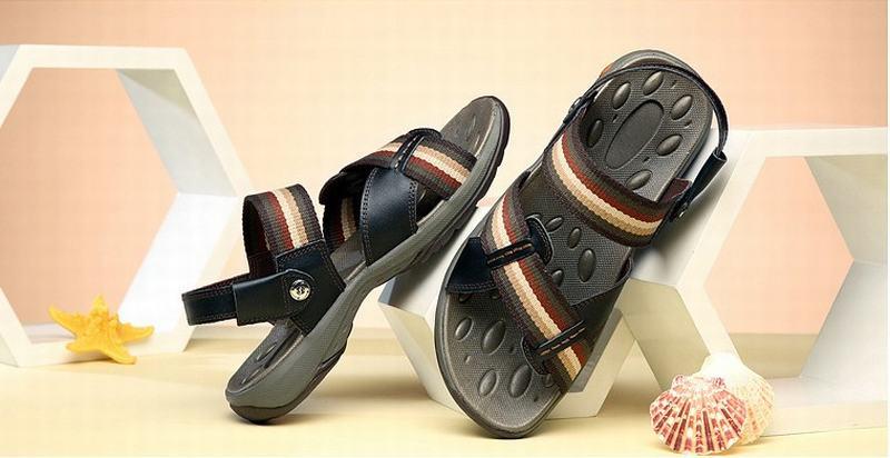 Top qualité véritable cuir de vache sandales homme mode été chaussures plage tongs homme gladiateur Sandalias pantoufles grand Size38-44 - 6