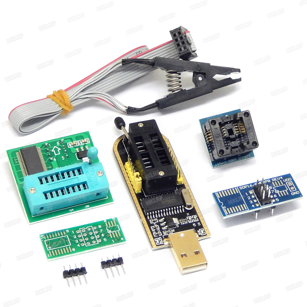 SOIC8 SOP8 Clip Adapter CH341A 24 25 Series EEPROM Flash BIOS USB Programmer