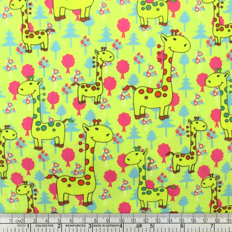 50*145 CM de tela animal de la historieta de Poliéster y algodón para Niños Teji