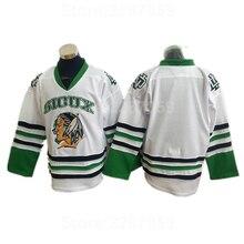 43860065b Ediwallen North Dakota Fighting Sioux Blank College Ice Hockey Jerseys Sale  Men Green White Black Stitched. 3 Colors Available