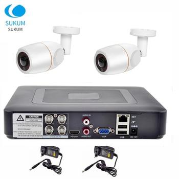 4CH DVR CCTV System 2PCS Cameras 2CH 2MP Fisheye Outdoor Security Camera Waterproof 1080P AHD CCTV DVR Surveillance Set
