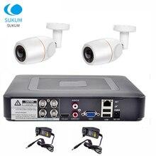 Outdoor cctv camera security system kit 4CH DVR 1080p 2pcs AHD camera surveillance Waterproof video surveillance set