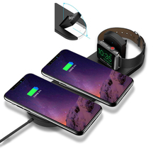 For apple watch 2 3 charger 2W phone 10W QI Wireless Charger Dual Pad for iPhone XS Max XR X 8 plus Samsung S9 S8 Fast Charge