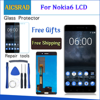 AICSRAD 1920x1080 5.5 Display For NOKIA 6 LCD Touch Screen Digitizer nokia 6 display Replacement For NOKIA 6 LCD Display