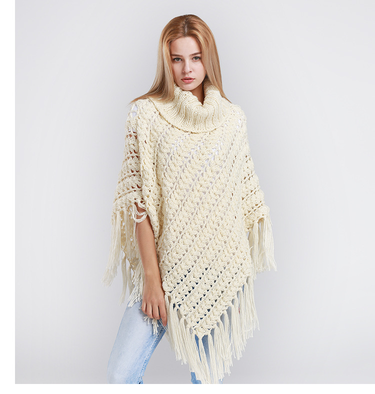Brand women's pure manual weaving thickening in the fall and winter knitting scarf shawl cloak shawls