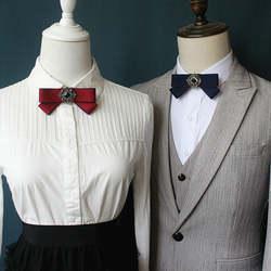 Элегантный взрослых унисекс вырезом рубашка с воротником Галстуки Украшенные стразами Свадебный костюм Бизнес галстук школьная Униформа