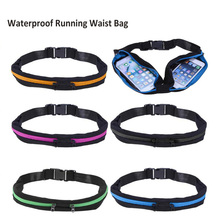 Waterproof Sports Bag Running Jogging Waist Bags Pocket Adjustable Outdoor Phone Money Anti-theft Pack Belt Cycling Zip Pouch(China)