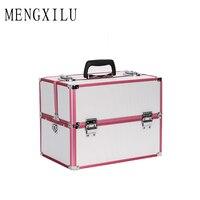 MENGXILU Cosmetic Bag Makeup Bag Travel Makeup Organizer Cosmetics Pouch Bag Make Up Bag Professional Makeup Case Large Capacity