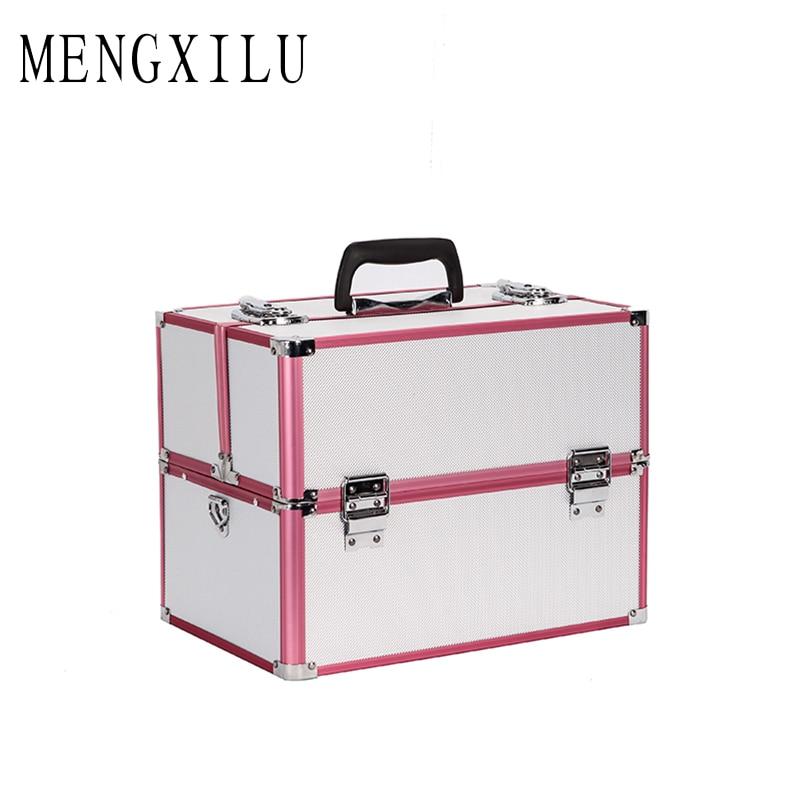 MENGXILU sac cosmétique sac de maquillage voyage maquillage organisateur cosmétiques pochette sac de maquillage professionnel étui de maquillage grande capacité