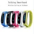 2016 más nuevo original b1 talkband banda bluetooth 4.0 pulsera inteligente inteligente podómetro pulsera para android ios mi banda pk huawei