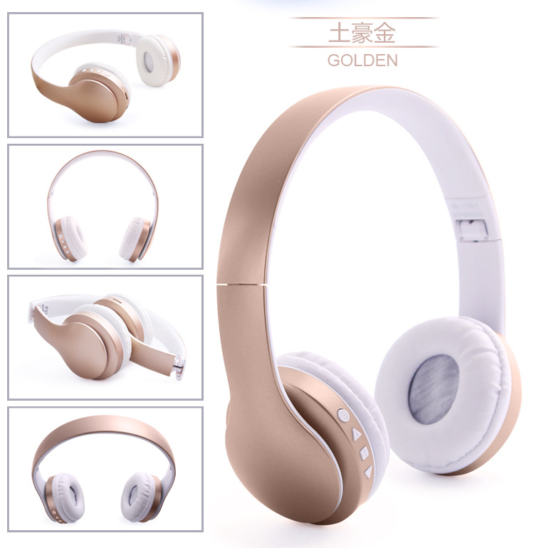 GiGiboom Wireless Bluetooth Headphone Foldable Stereo Headset with Mic Support FM radio TF Aux Handsfree for Mobile Phone jkr 209b multi function bluetooth headset earphone wireless stereo foldable headphone support fm radio tf card mic for phone pc