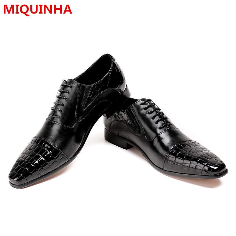 2017 New Shoes Man Casual Lace Up Black Leather Oxfords Shallow Flats Designer Dress Man Flats Plus Size Party Wedding Shoes new brand designer formal men dress shoes lace up business party oxfords shoes for men pointed toe brogues men s flats plus size