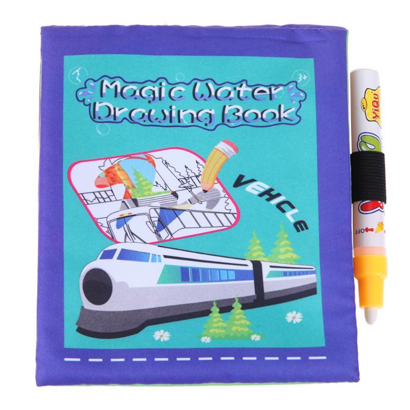 Veicolo Coloring Magic Water Drawing Book Libro Da Disegno Per