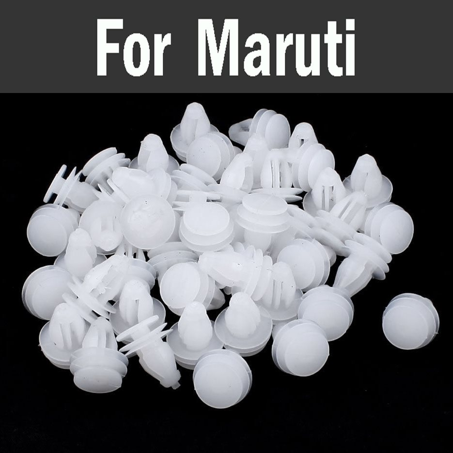 High-Quality 100pcs White Car Styling Door Panel Plastic Rivets Bumper Retainer Clip For Maruti 800 Alto Baleno Esteem Gypsy Zen