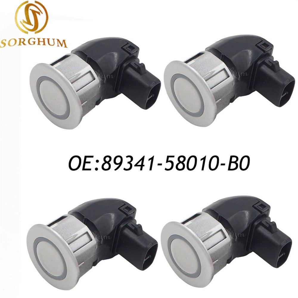 4PCS 89341-58010-B0 89341-58010 PDC Ultrasonic Backup Aid Parking Sensor Fits Toyota Alphard