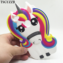 лучшая цена Unicorn Phone Case For Xiaomi Redmi 3S 3 4A 4X 5A Redmi Note 4 Note 4X Note 5A Prime Cartoon Soft Silicone Pink Horse Back Cover