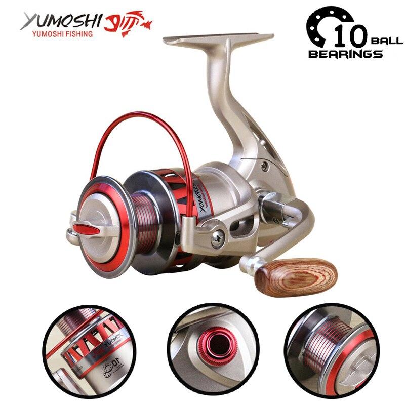 Yumoshi 5.5: 1 10BB Molinete Carp Fishing Reel Gear Rasio - Penangkapan ikan - Foto 1
