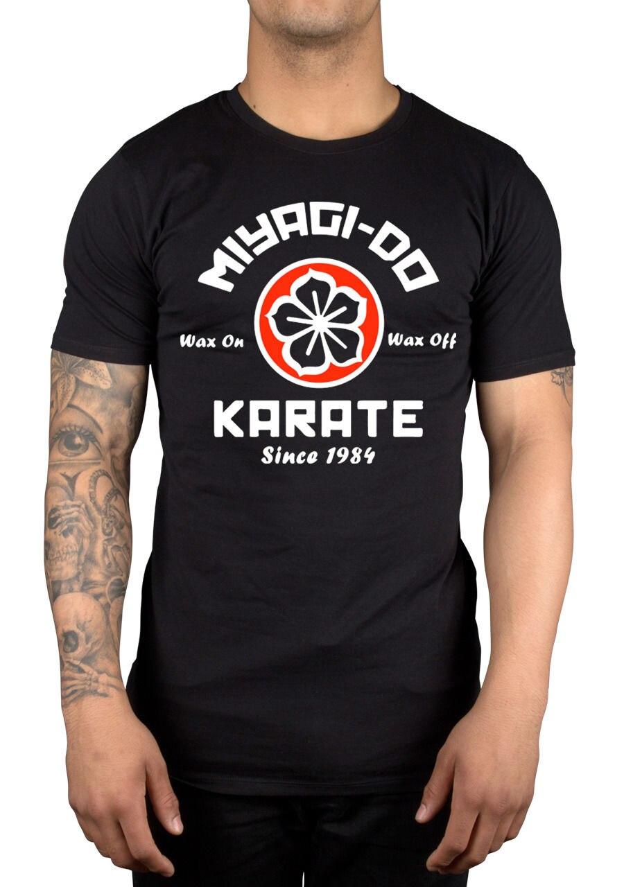 Мияги сделать карате воск на воск футболка 9018 Вт Karate Kid боевых Artser Японии простой короткими рукавами хлопок майка Топ Футболка