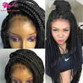 Lace Front Box Braid Wigs Synthetic Lace Front Wigs With Baby Hair Heat Resistant Cheap Synthetic Braided Wigs For Black Women