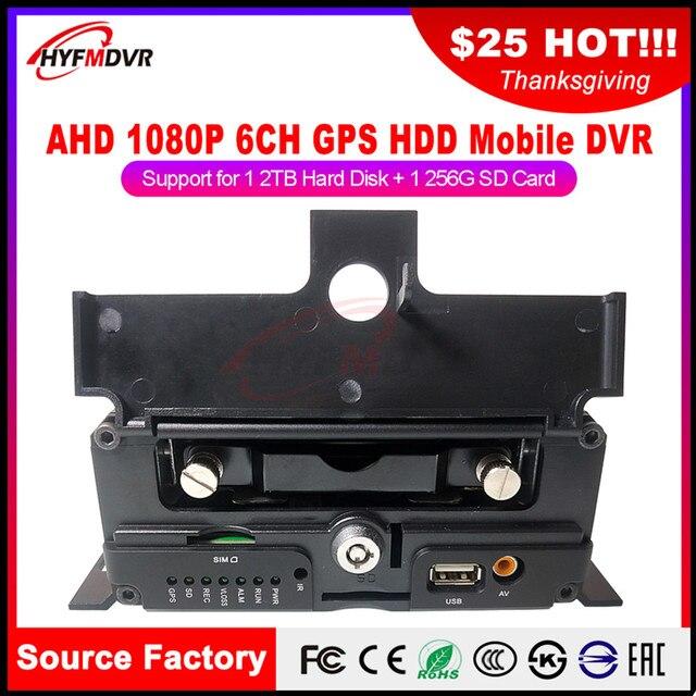 Surveillance audio et vidéo locale AHD   6 canaux, 1080P, 2 millions de pixels, mobile DVR voiture privée/petite voiture/train, nouvelle liste