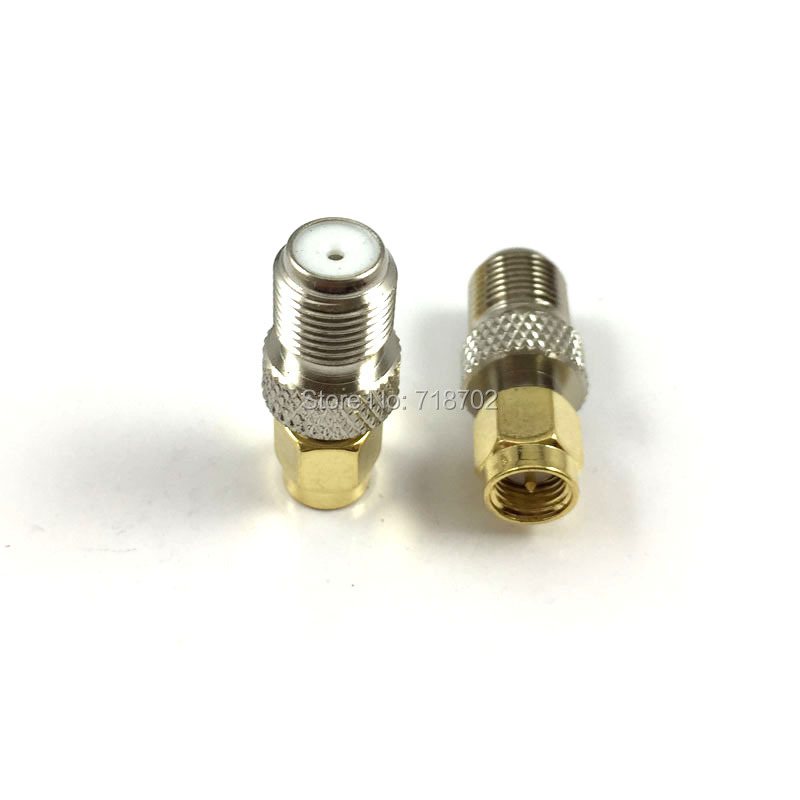 1pcs  RF Sma-F Sma Male to F Female Jack RF Coaxial Conenctor Straight Adaptor 10 pcs rf coaxial adapter sma female to mcx male straight new