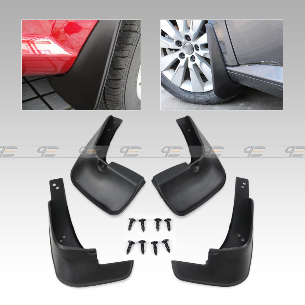 4XBlack ABS Mud flaps Mudguard Dirt Fender Cover For Kia Sportage 2015-2018