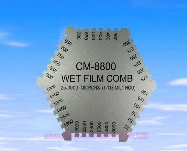 CM-8800 Wet Film Coating Thickness Comb Gauge Meter Tester Tool 25-3000um ,free shipping cm 8000 hexagon wet film comb