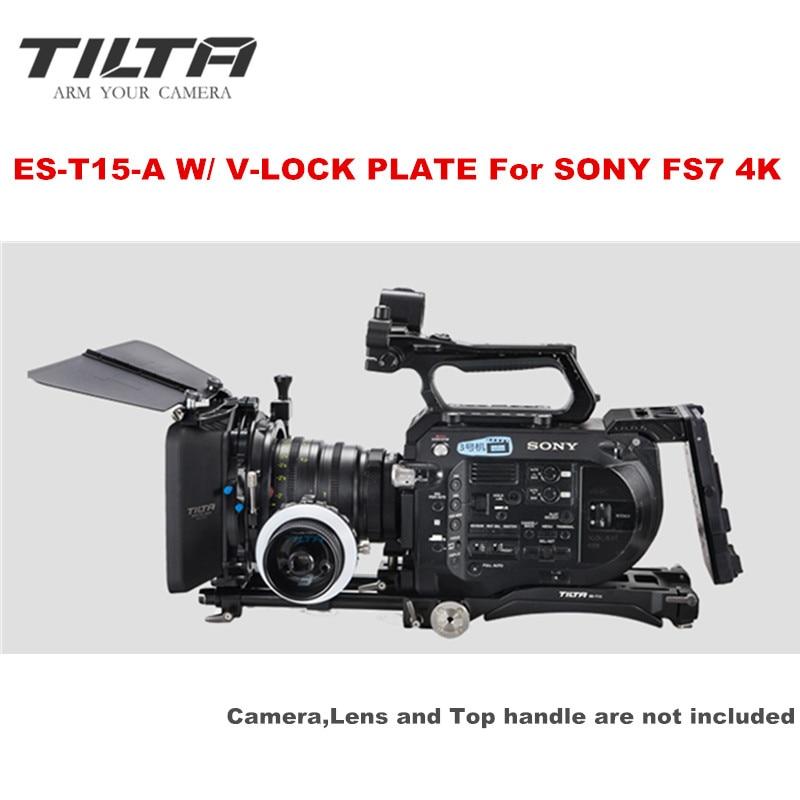 Tilta ES-T15-A FS7 Rig KIT Baseplate Shoulder Pad 4*4 matte box FF-T03 Follow focus V-lock power supply for Sony FS7 4K camera недорого