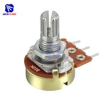 1 шт WH148 потенциометр резистор 10K Ом с гайкой и шайбой 3 Pin Линейный Конус поворотный потенциометр B10K для Arduino