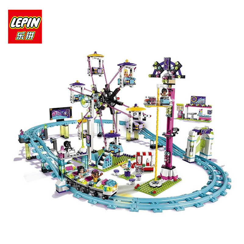 LEPIN 01008 1024Pcs Model Educational building blocks kits city girl friend Amusement Park 3D Gift compatible with lego new lepin 16008 cinderella princess castle city model building block kid educational toys for children gift compatible 71040