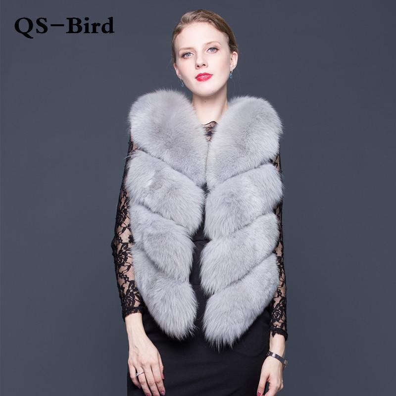 100% Натуральный мех жилет роскошный Для женщин Зимняя мода Стиль натуральный Мех животных жилет Леди Всего Фокс Мех животных Вязаные Жилеты