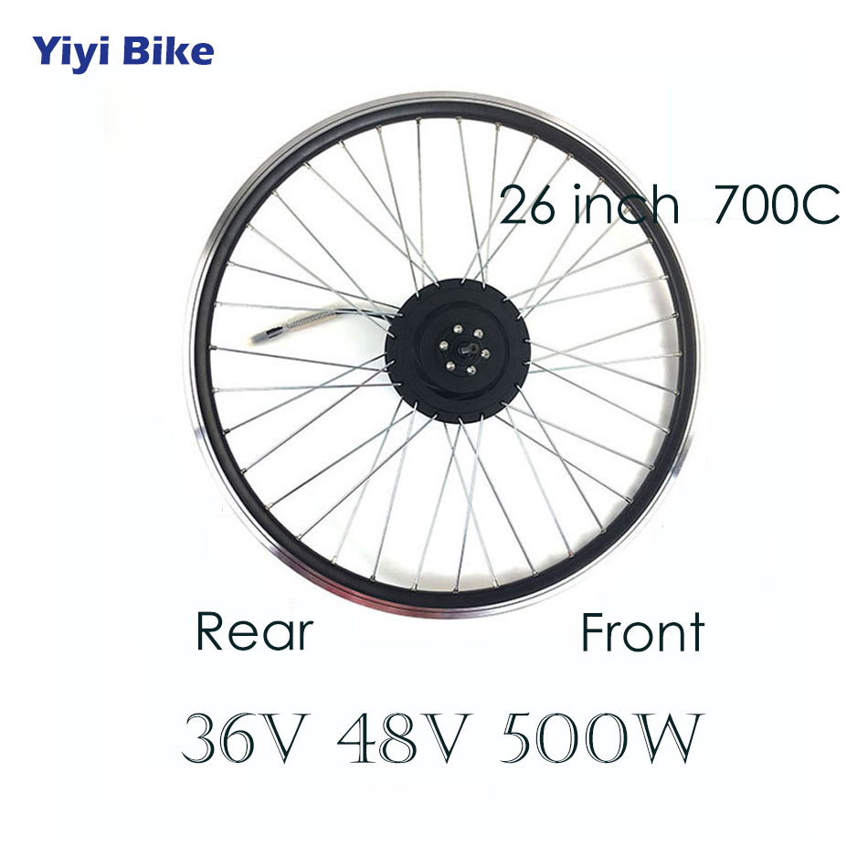 36V 48V 500W 26 inch 700C Electric Bicycle DC Motor brushless motor controller LCD Display Electric Vehicle e bike Motor Wheel