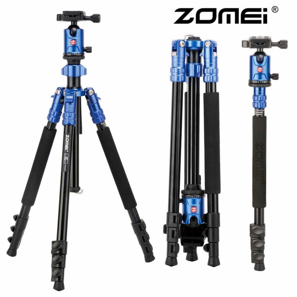 ZOMEI M7 360 degree Professional Portable Magnesium Aluminum Alloy Tripod Monopod For SLR Camera Ball Head Quick Release Plate aluminium alloy professional camera tripod flexible dslr video monopod for photography with head suitable for 65mm bowl size
